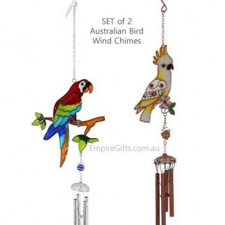 AUSTRALIAN BIRDS COCKATOO PARROT WIND CHIME SET