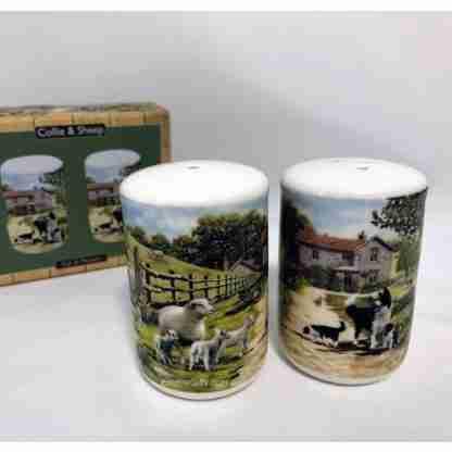 2pc Farmyard Salt & Pepper Shaker Set Ceramic Kitchen Collectables
