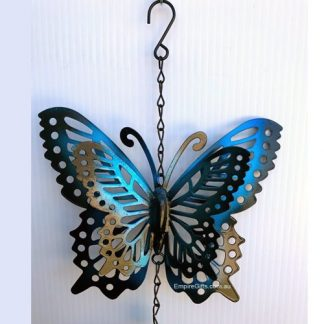 3D Blue Butterfly Wind Chime Garden Hanging Mobile NEW