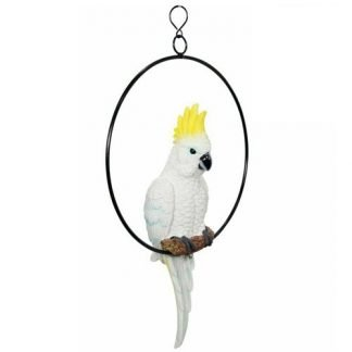 Australian Cockatoo Bird Parrot in Ring Hanging Garden Mobile