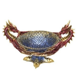 Dragon Heads Statue Bowl Key Holder/ Treasure Bowl Collectable
