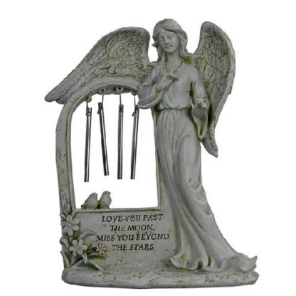 Memorial angel wind chime plaque