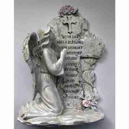 Angel Kneeling Inspirational Plaque