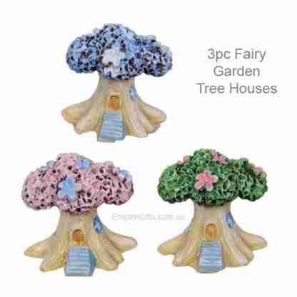 24pc Miniature Tree House Figurine Fairy Garden / Cake Decoration
