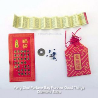 Feng shui Fortune Bag Forever Good Things Diamond Sutra