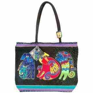 Designer Handbag Laurel Burch Shoulder Tote Dogs and Doggies 2070