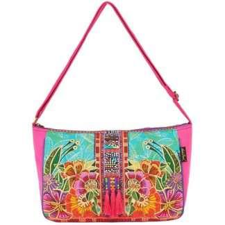 Designer Handbag Laurel Burch Flora Medium Tote PINK
