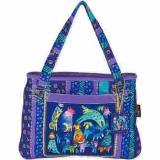 Designer Handbag Laurel Burch Tote Mythical Dogs