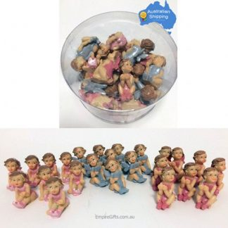 miniature fairy statues pink pink blue