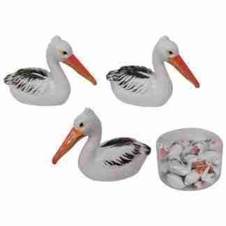 24pc miniature pelican statues