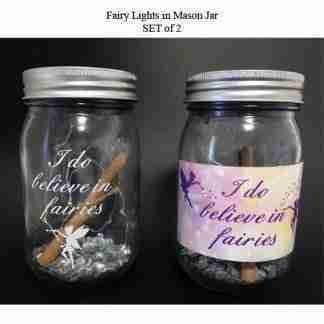 Fairy Lights in Mason Jar SET of 2 Hanging Lights