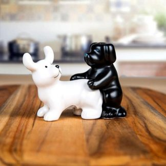 2pc Naughty DOGS Salt & Pepper Shakers Collectable
