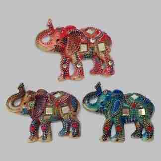 Mosaic elephant magnets SET of 3