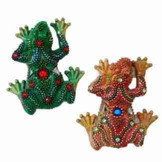 Mosaic Frog Magnets Set of 2