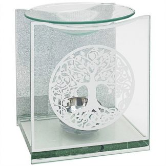 (1) Tree of Life Glass Oil Burner Candle Holder Wax Melts