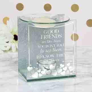Friends Glass Inspirational Oil Warmer Wax Melts Gift Boxed