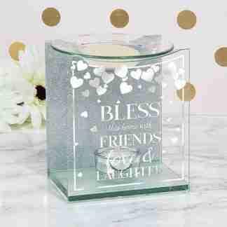 1pc Family Love Glass Inspirational Oil Warmer Wax Melts