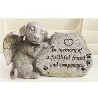 (1) DOG Memorial Stone Inspirational Sayings Garden Grave Stone