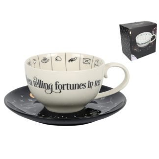 (1) Fortune Telling Tea Cup Ceramic Tarot Readings Gift Boxed