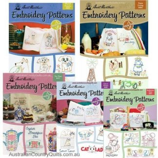 Aunt Martha's Iron On Transfer Embroidery Books Re-usable